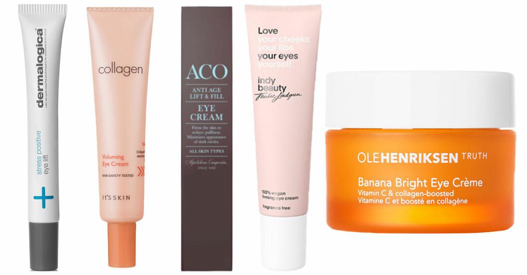 Produkter som ska motverka trötthets, ålders och oönskade tecken runt ögonen