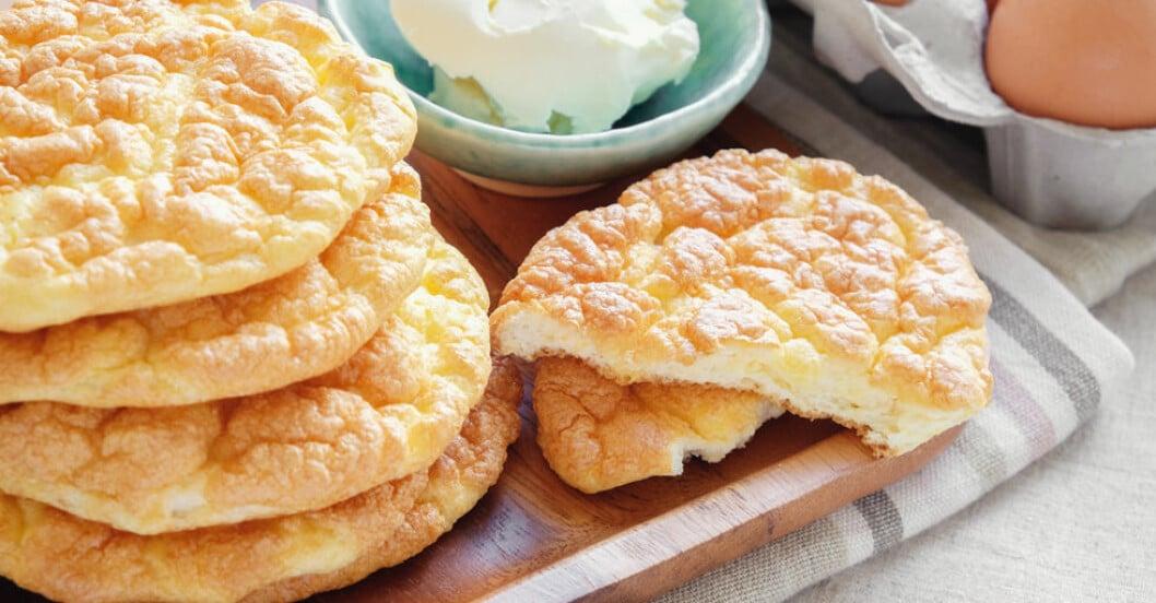 Oopsies är ett nytt, trendigt LCHF-bröd.