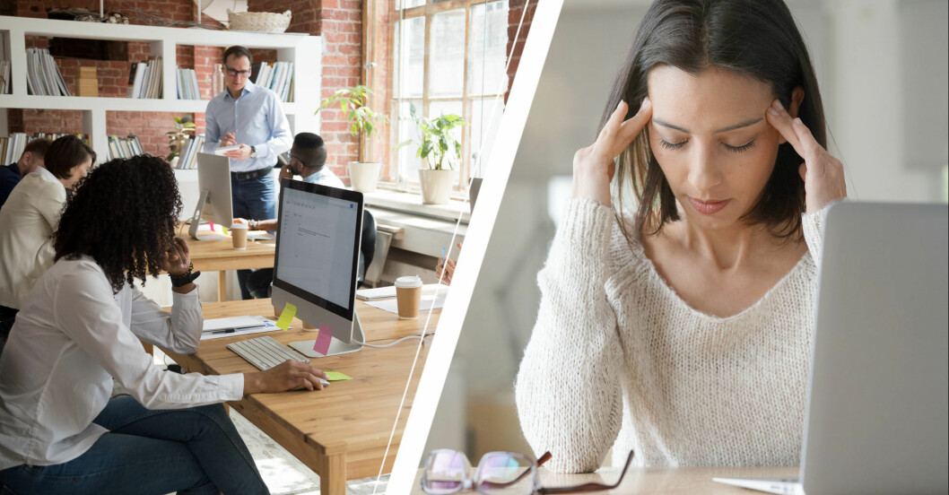 Öppet kontorslandskap gynnar inte arbetsmiljön.
