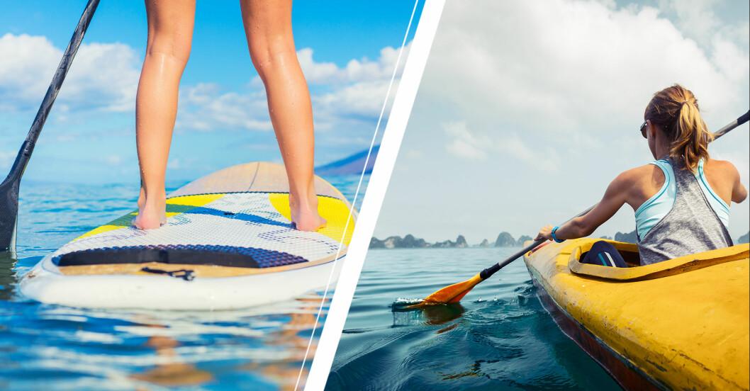 sup eller kajak – vilken vattensport ägnar du dig åt i sommar?