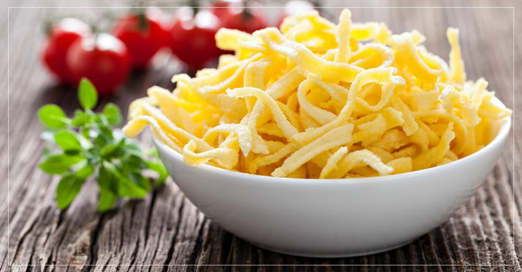 skål med pasta