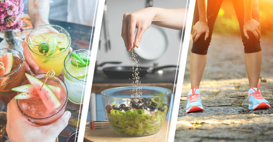 orsaker till att vi pendlar i vikt – alkohol, salt, träning …