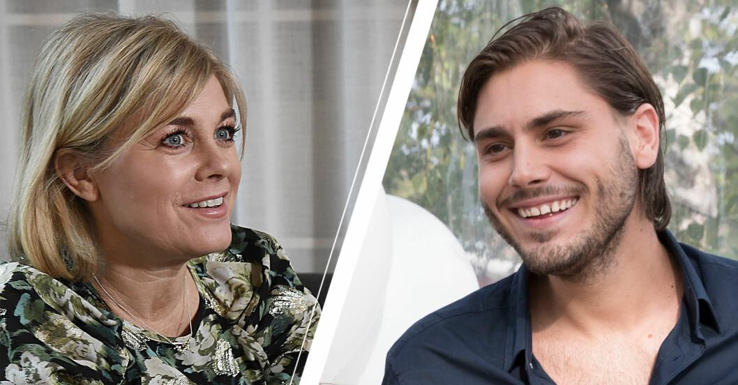 Pernilla Wahlgren och sonen Oliver Wahlgren-Ingrosso