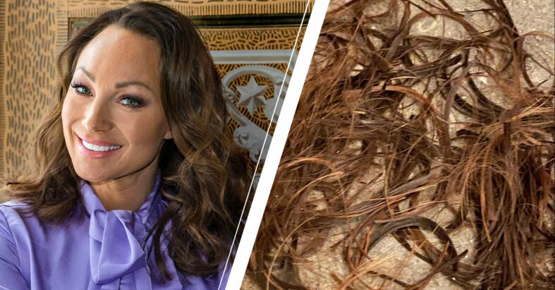 """""""Nu är det klippt!, skojar Charlotte Perrelli efter frisörbesöket. Spana in nya frillan här!"""
