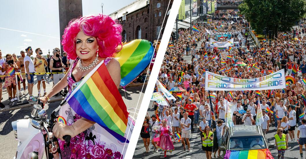 Babsan i prideparaden/ prideparaden 2018.