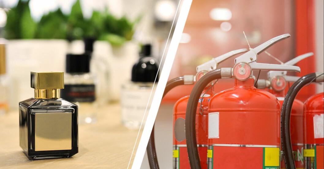 parfym och brandsläckare