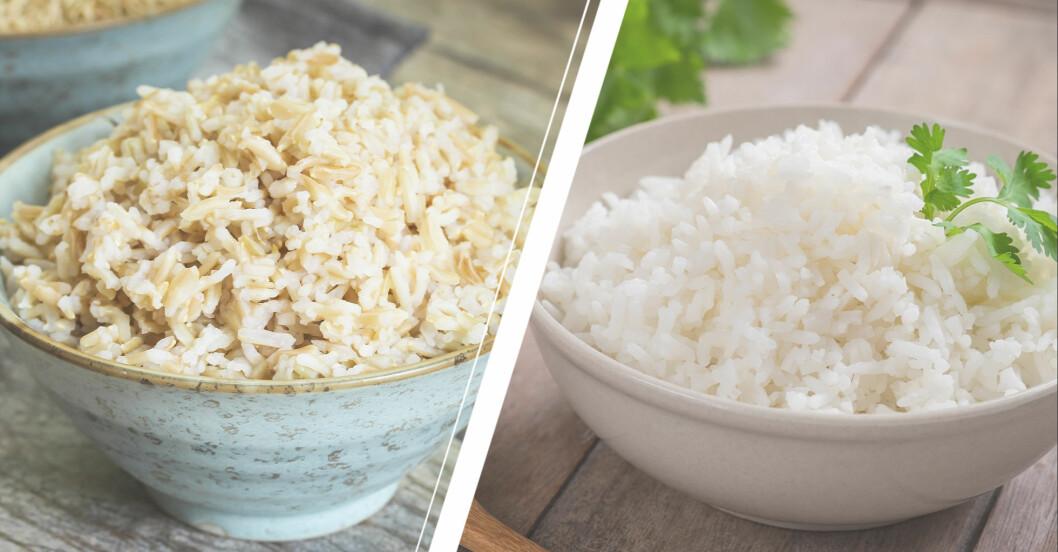 råris och vitt ris
