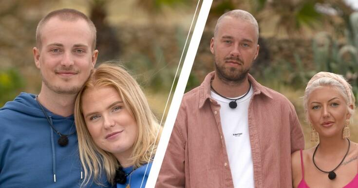 Två av paren i nya reality serien