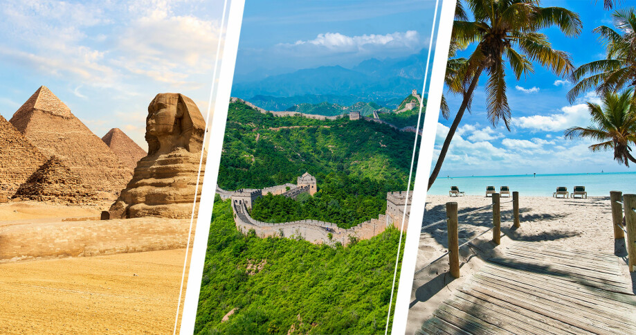 Pyramiderna, Key West och kinesiska muren