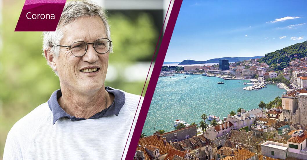 Anders Tegnell och Split i Kroatien