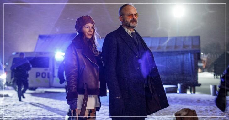 Hanna Alström och Johan Rheborg i serien Agatha Christies Hjerson