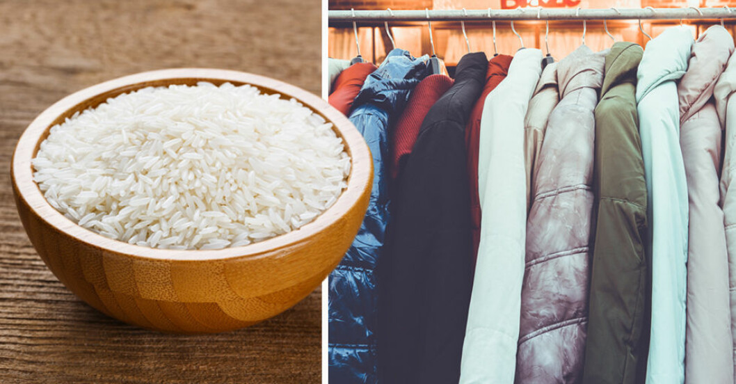 Ris kan ta bort fukt och dålig lukt.