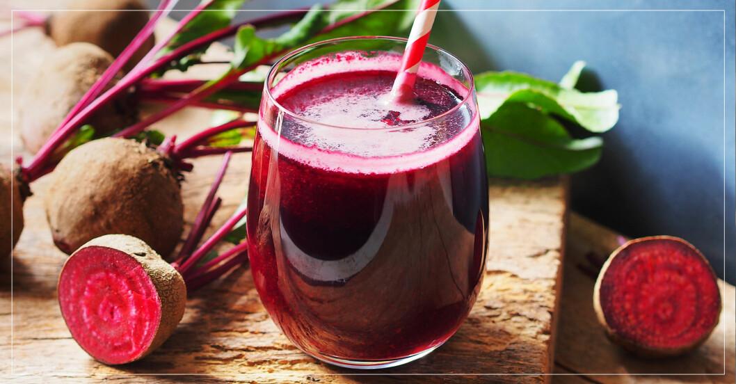 nyttig rödbetsjuice som är bra för blodtrycket och höjer prestatinsförmågan