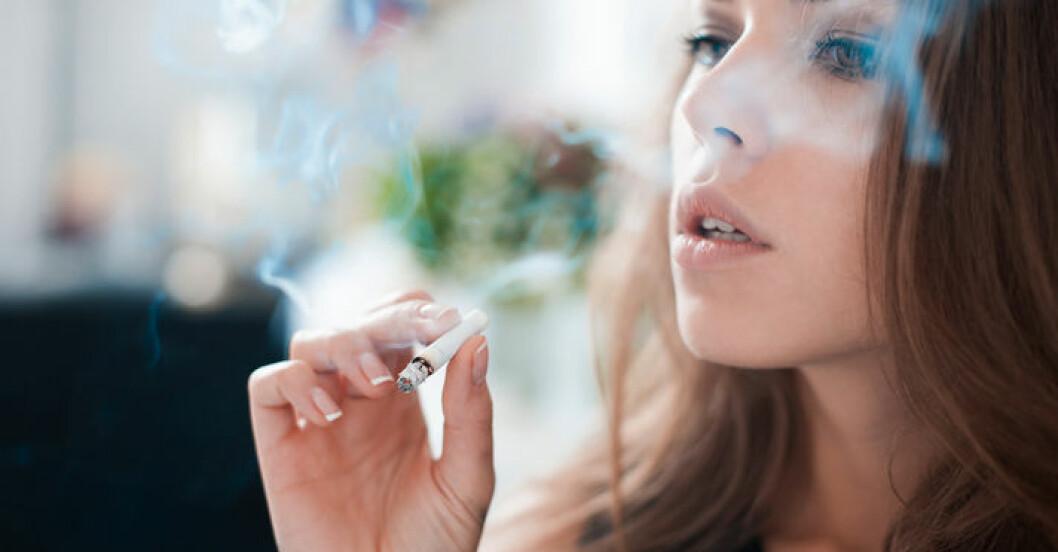 Rökning kan få dig att gå upp i vikt.