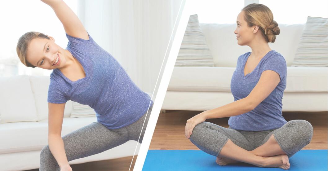 tränar rörlighetsövningar för ryggen