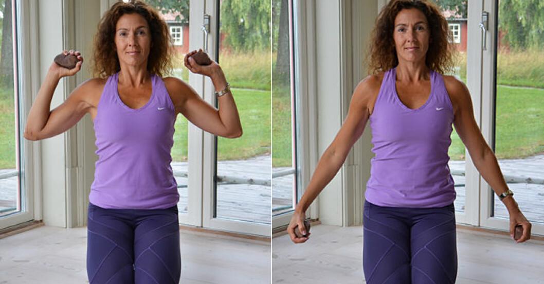 4 smarta övningar för rygg, nacke och axlar