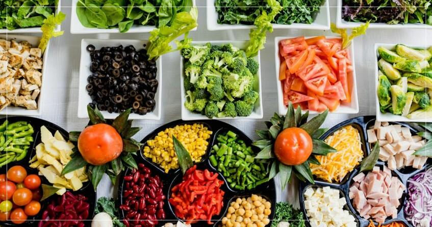 Mängder med olika grönsaker