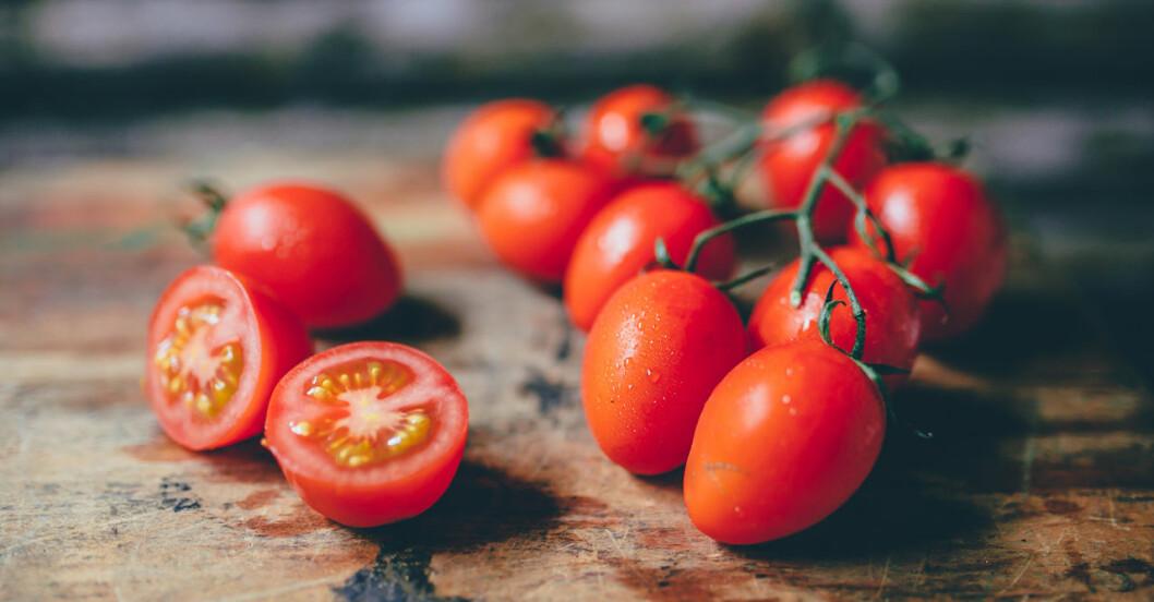 Slmonella kan komma från små tomater.
