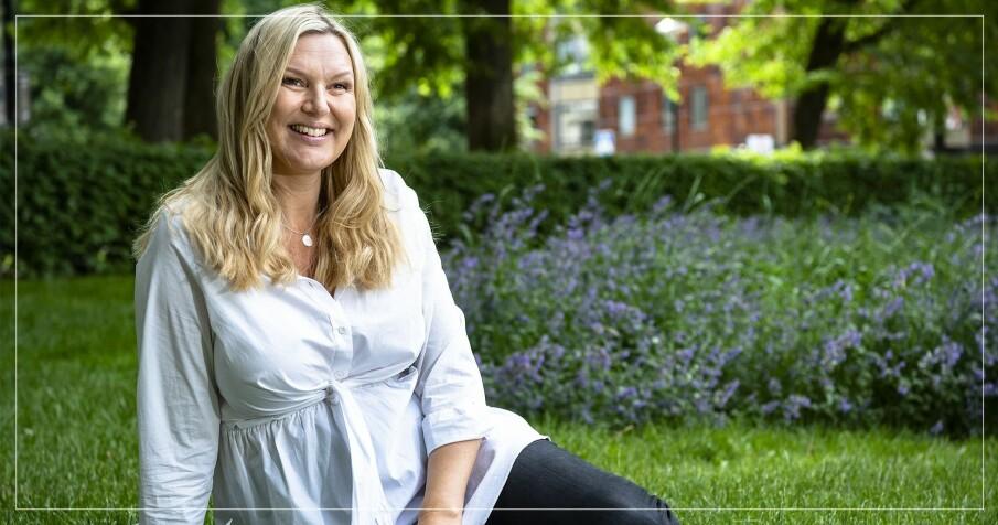 Sanna Nielsen med gravidmage