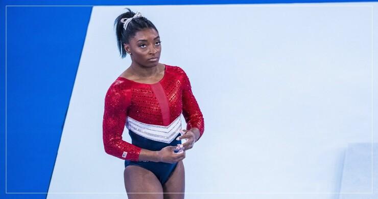 Simone Biles i tävlingsställ