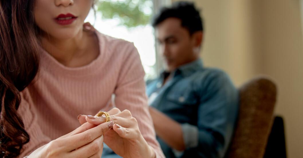 Otippade orsaker till skilsmässor.