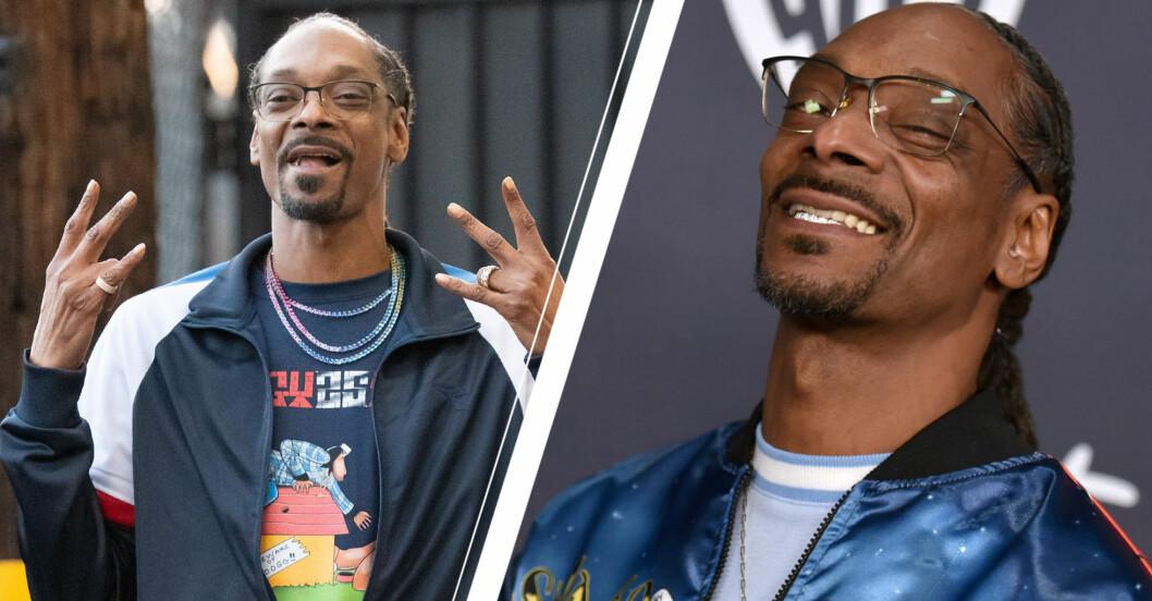 Rapparen Snoop Dogg ler mot kameran