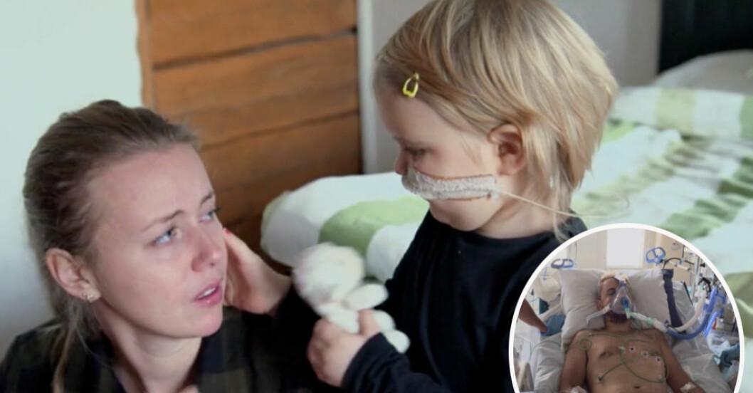 Familjen kämpade mot dotterns leukemi – då får pappa Niklas hjärtstopp