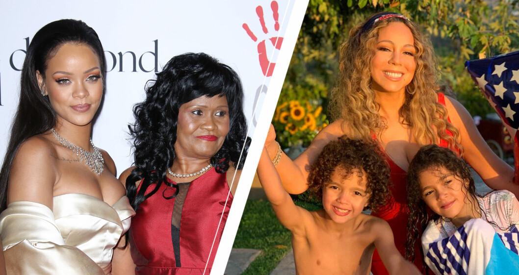Rihanna och MARIAH CAREY med familj