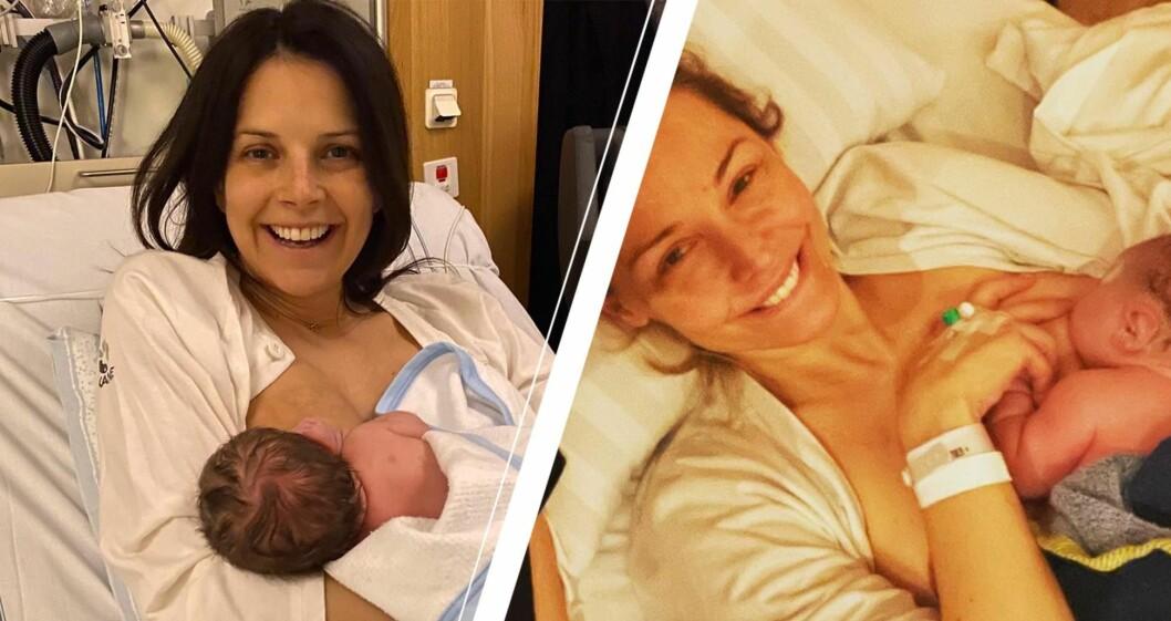 Malin Olsson och Carina berg har fått barn