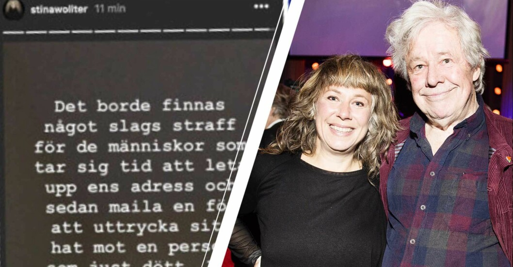 Stina Wolter arg på hat mot pappa Sven