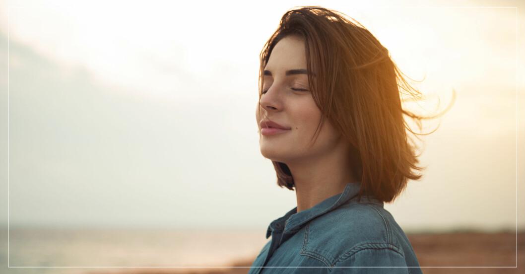 kvinna använder 3s-metoden för att undvika stress och utmattning