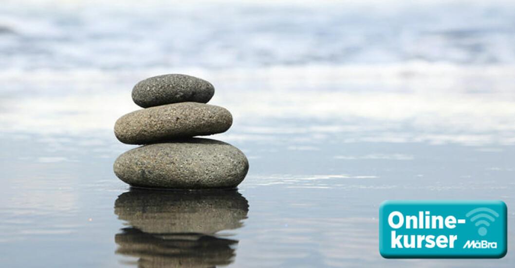 Stressa ner lev mer, onlinekurs från MåBra