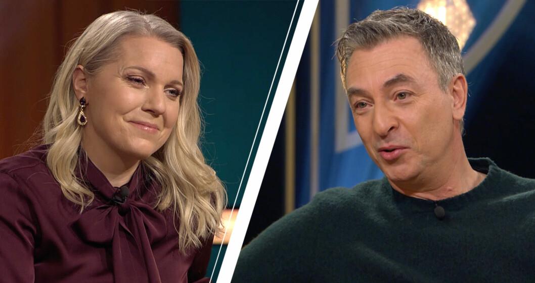 Carina Bergfeldt och Tareq Taylor i SVT.