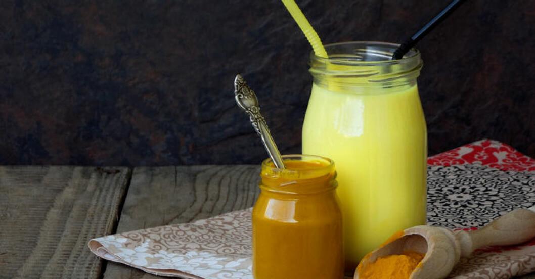 Golden milk och gurkmeja är bra för hälsan!