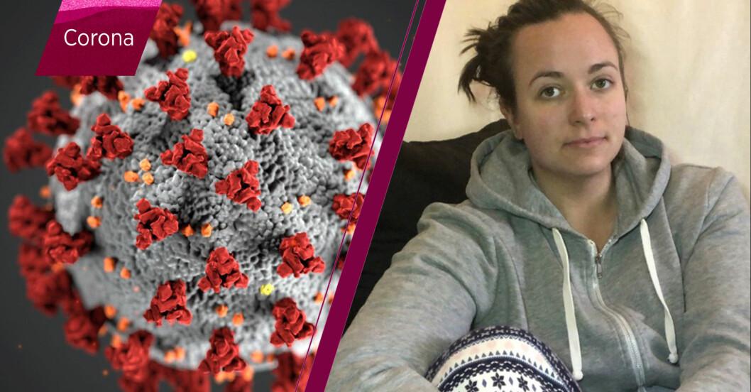 Klara-Maria Mach är drabbad av coronaviruset, covid-19.