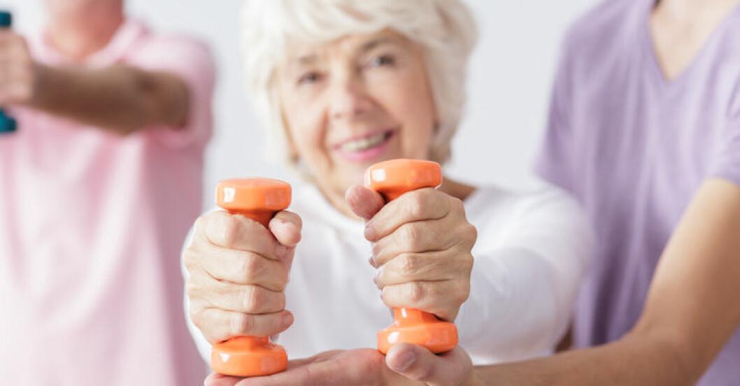 Gamla bör styrketräna.