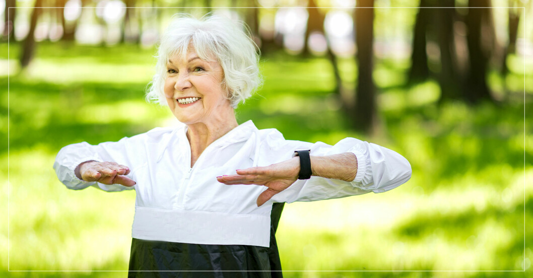 kvinna tränar för att leva länge