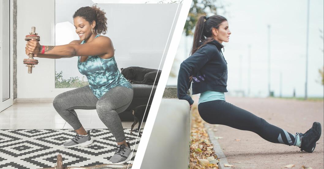 kvinnor visar träningsövningar som man kan vara försiktig med efter att ha fyllt 40