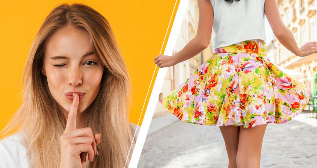 Hyschande kvinna och kvinna med kjol.