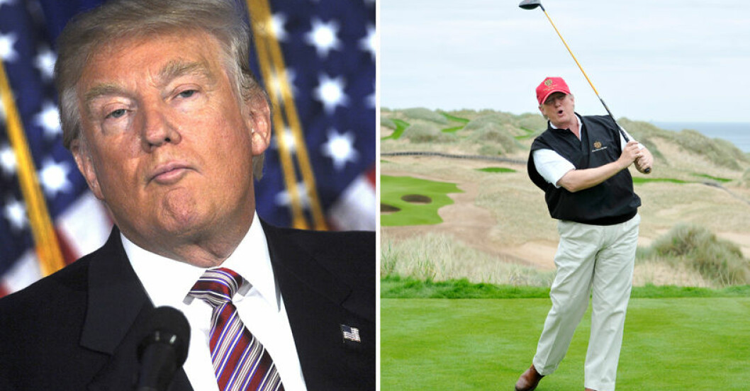 """Donald Trump """"tror"""" inte på träning."""