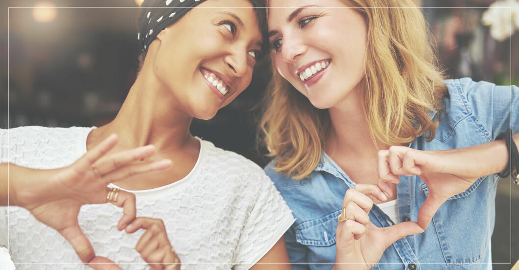 vänner som visar omtanke om varandra