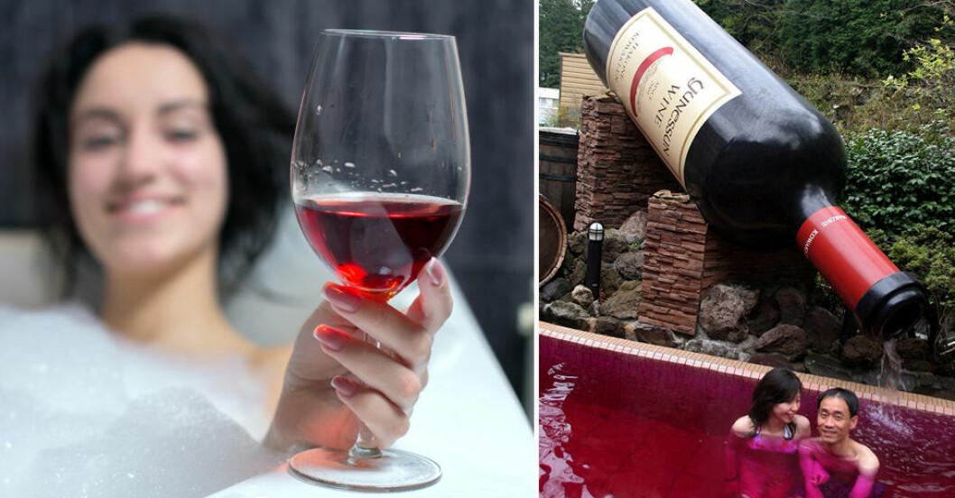 Här är ett spa där du kan bada i rödvin