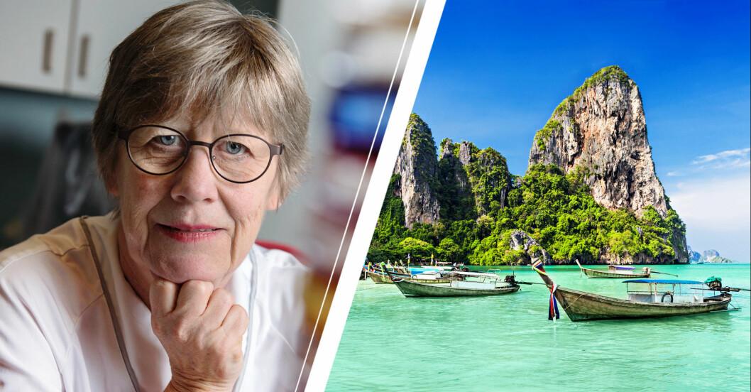 Agnes Wold avråder från resor till Thailand på grund av coronaviruset.