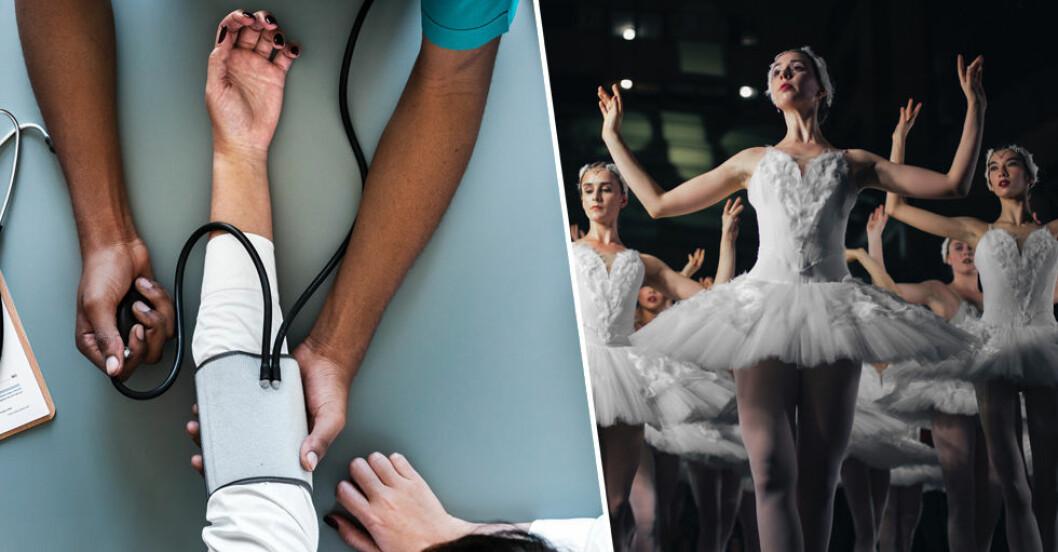 Vårdyrken och dansare finns med på listan över stressiga jobb.
